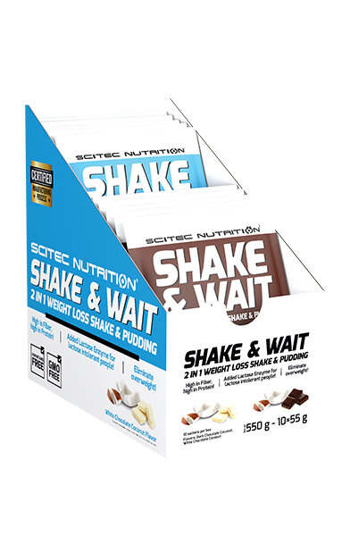 Shake&Wait Scitec Nutrtion 10 x 55 g portion bags