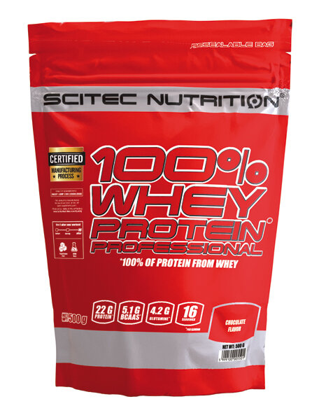 100% WHEY PROTEIN PROFESSIONAL Scitec Nutrition 920 g Erdbeer