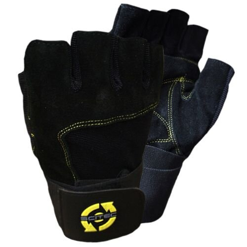YELLOW LEATHER STYLE FitnessHandschuhe Scitec Nutrtion
